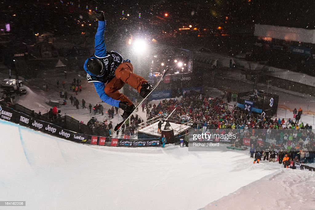 First place <a gi-track='captionPersonalityLinkClicked' href=/galleries/search?phrase=Kelly+Clark&family=editorial&specificpeople=221586 ng-click='$event.stopPropagation()'>Kelly Clark</a> performs during the Women's Snowboard Superpipe final during day three of Winter X Games Europe 2013 on March 20, 2013 in Tignes, France.