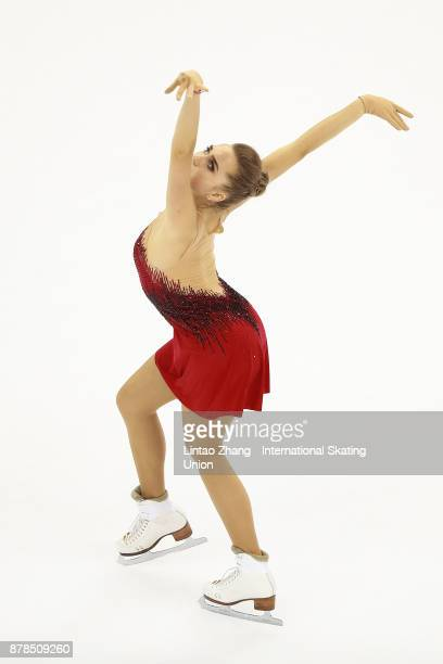 First place winner Elena Radionova of Russia performs during the Ladies Free skating duirng the 2017 Shanghai Trophy at the Oriental Sports Center on...
