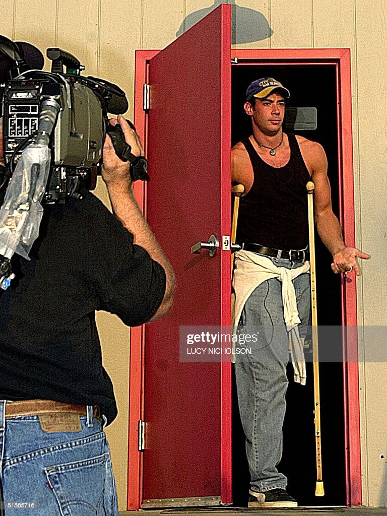 US first place winner of 'Big Brother' reality television show Eddie McGee exits the 'Big Brother' house on a CBS Studio Center parking lot in Los...