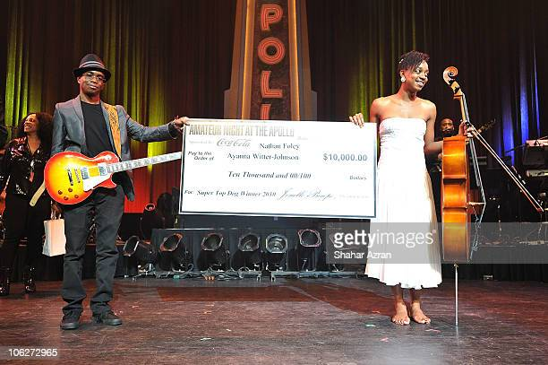 First Place winners Ayanna Witter Johnson and Nathan Foley perform at the Amateur Night At The Apollo Finals at The Apollo Theater on October 27 2010...