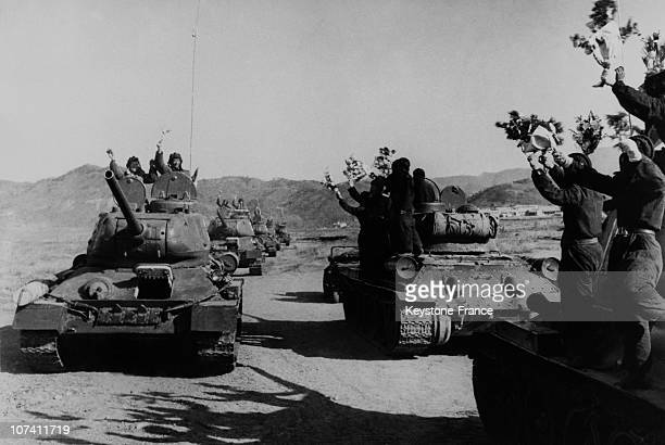First Popular North Korean Tank Unit Right Release A Chise'S People Tank Unit Which Leaves The North Korea North Korea On April 1958