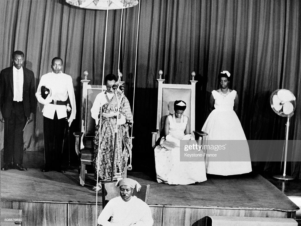 First President <a gi-track='captionPersonalityLinkClicked' href=/galleries/search?phrase=Julius+Nyerere&family=editorial&specificpeople=228294 ng-click='$event.stopPropagation()'>Julius Nyerere</a> Reading A Speech At the Parliament After Tanganyika Became The Republic Of Tanganyika Within The Commonwealth, in Tanganyika, on December 12, 1962.