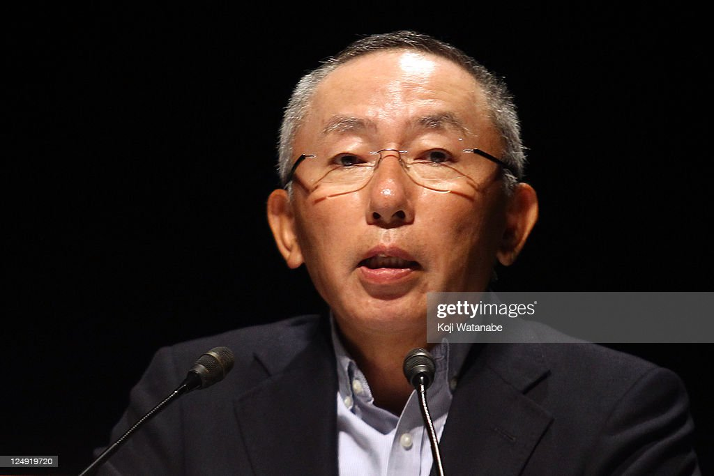First Retailing Chairman, President and CEO <a gi-track='captionPersonalityLinkClicked' href=/galleries/search?phrase=Tadashi+Yanai&family=editorial&specificpeople=558842 ng-click='$event.stopPropagation()'>Tadashi Yanai</a> speaks during the business strategy press conference at Pacifico Yokohama on September 14, 2011 in Yokohama, Kanagawa, Japan. First Retailing, the operator of Uniqlo, announces the plan to open 200 to 300 shops a year worldwide.