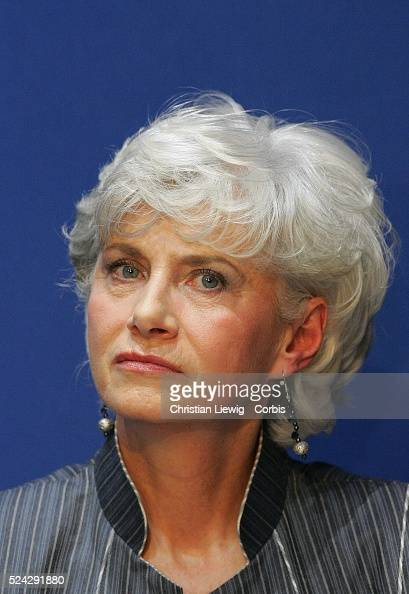 First round campaign of the 2008 primary local elections of the French political party the UMP in Paris French minister Francoise de Panafieu during...