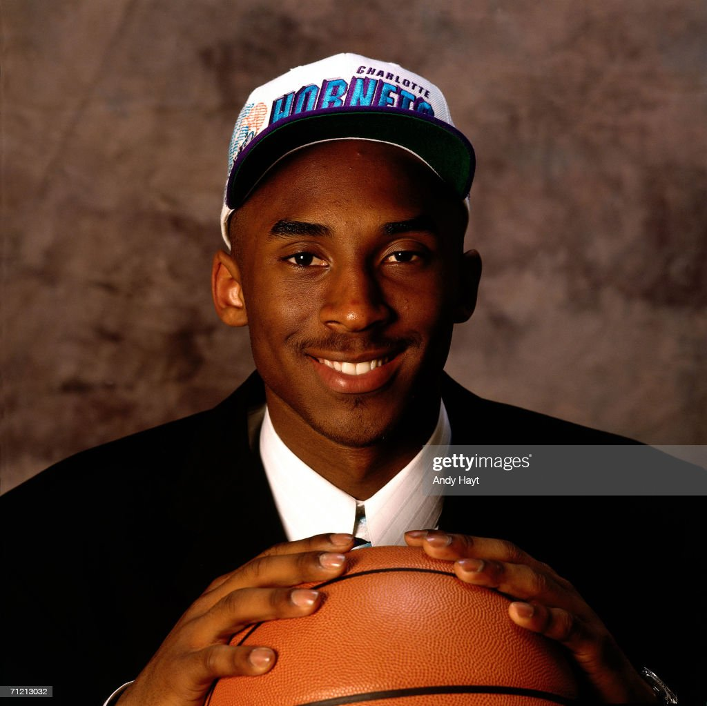 First Round NBA draft pick <a gi-track='captionPersonalityLinkClicked' href=/galleries/search?phrase=Kobe+Bryant&family=editorial&specificpeople=201466 ng-click='$event.stopPropagation()'>Kobe Bryant</a> poses for a photo.