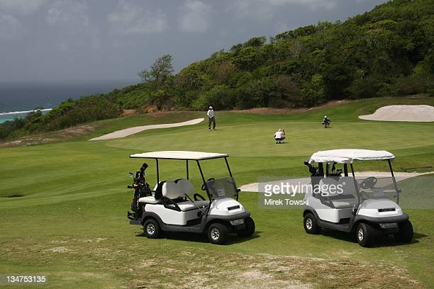 First round of Donald Trump's Golf Tournament during Donald Trump Million Dollar Invitational 54 Hole Golf Tournament Day 2 at Raffles Resort in...