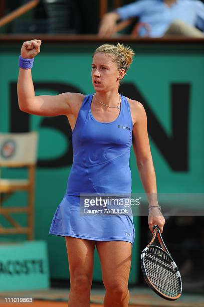 First round of the French Open tennis at the Roland Garros Day 2 in Paris France on May 25th 2009 Pauline Parmentier