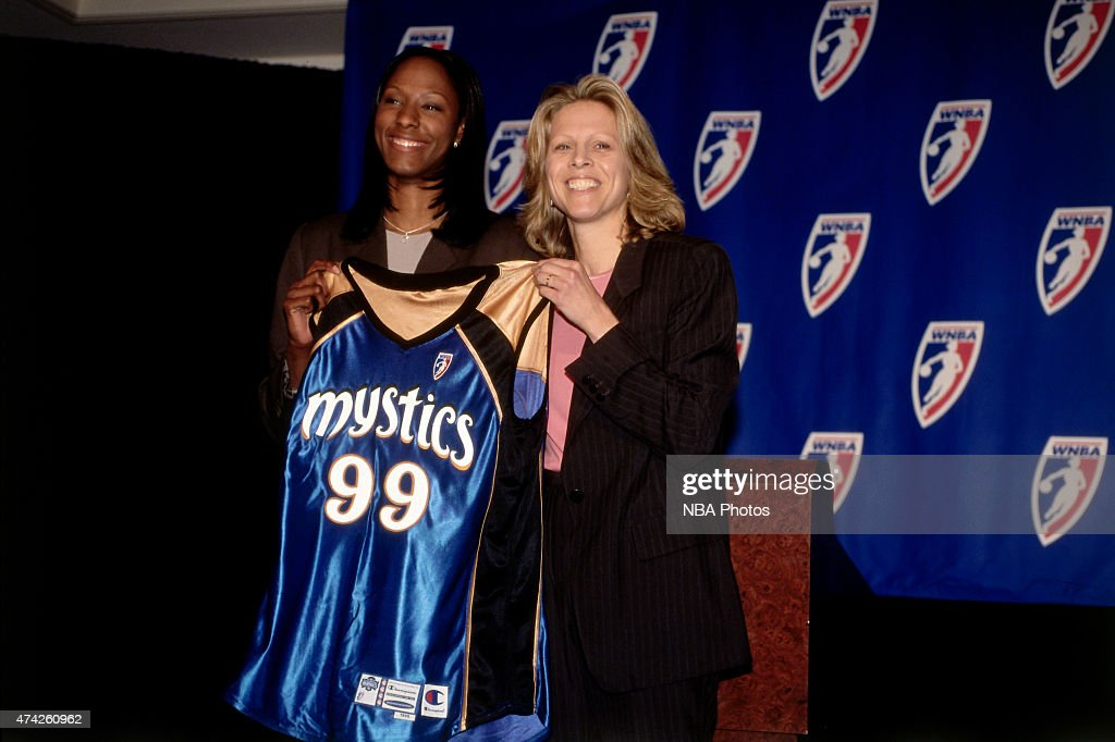 First round pick Chamique Holdsclaw of the Washington Mystics is selected at the 1999 WNBA Draft on May 4 1999 at NBA Entertainment Studios in...