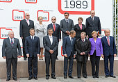 First row former Polish President Lech Walesa Prime Minister of Hungary Gordon Bajnai Prime Minister of Czech Republic Jan Fischer Polish Prime...