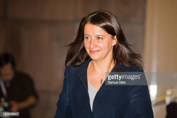 First Secretary of French party Europe Ecologie Les Verts Cecile Duflot attends day 1 of the 4th European Greens Congress at Maison de la Chimie on...