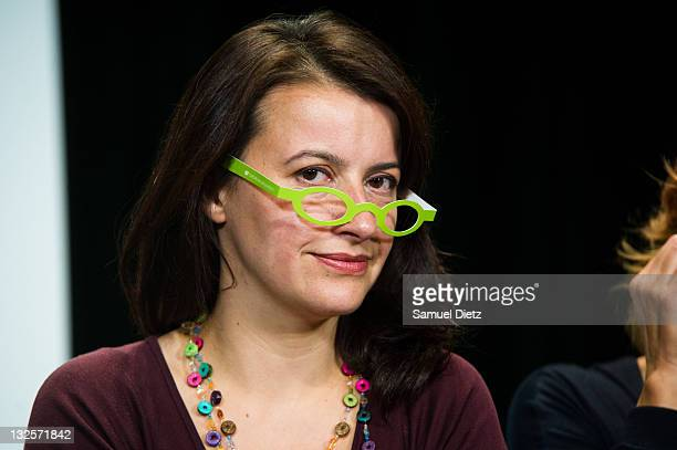 First Secretary of French party Europe Ecologie Les Verts Cecile Duflot attends day 2 of the 4th European Greens Congress at Maison de la Chimie on...