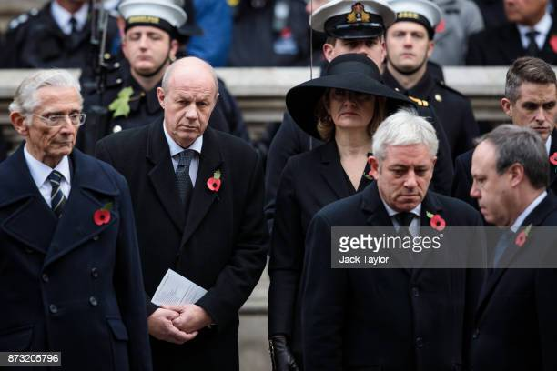 First Secretary of State Damian Green and Home Secretary Amber Rudd attend the annual Remembrance Sunday memorial on November 12 2017 in London...
