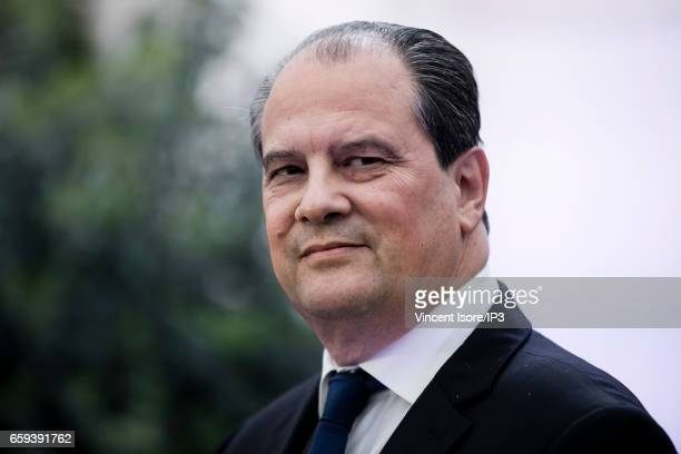 First Secretary of the Socialist Party Jean Christophe Cambadelis came to pay a last tribute to Henri Emmanuelli at the Socialist Party Headquarters...