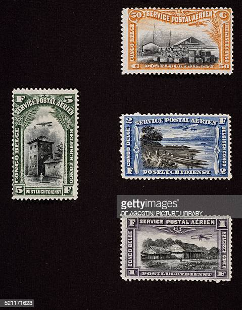First series of Airmail stamps 1921 Belgian Congo 20th century Congo