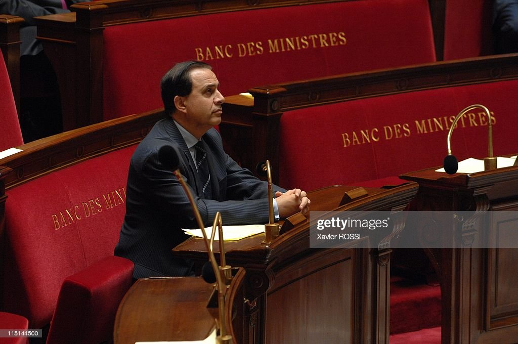 First session after June's parliamentary election at French National Assembly in Paris, France on June 26, 2007 - <a gi-track='captionPersonalityLinkClicked' href=/galleries/search?phrase=Roger+Karoutchi&family=editorial&specificpeople=4081438 ng-click='$event.stopPropagation()'>Roger Karoutchi</a>.