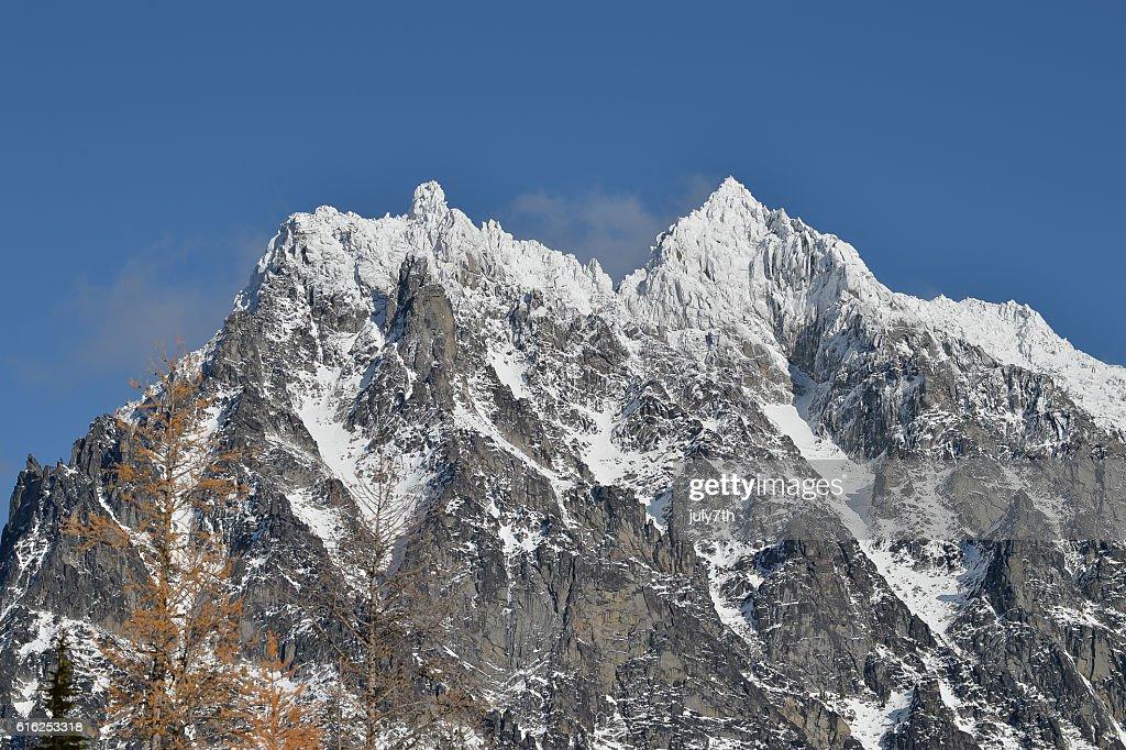 First Snow Mount Stuart : Stock Photo