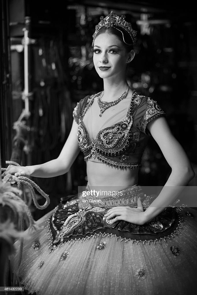 First Soloist Laurretta Summerscales poses for a portrait backstage prior to a press performance of 'Le Corsaire' by the English National Ballet at the Coliseum on January 8, 2014 in London, England.