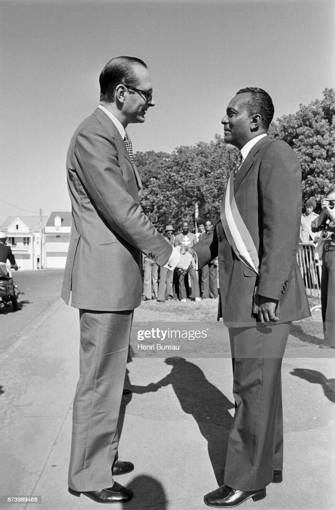 First step of his stay in the Antilles, Prime Minister Jacques Chirac arrived in Basse-Terre where he was welcomed by the Communist Mayor Clery, 22nd December 1975