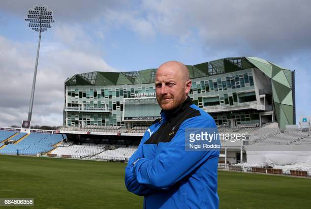 First Team Coach of Yorkshire Andrew Gale at Headingley on April 5 2017 in Leeds England