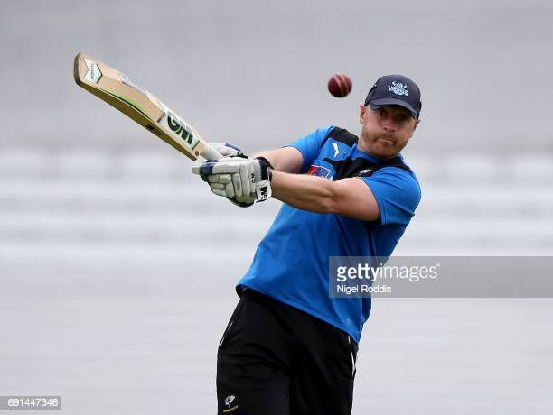 First Team Coach of Yorkshire Andrew Gale during the warm up ahead of Day One of the Specsavers County Championship Division One match between...