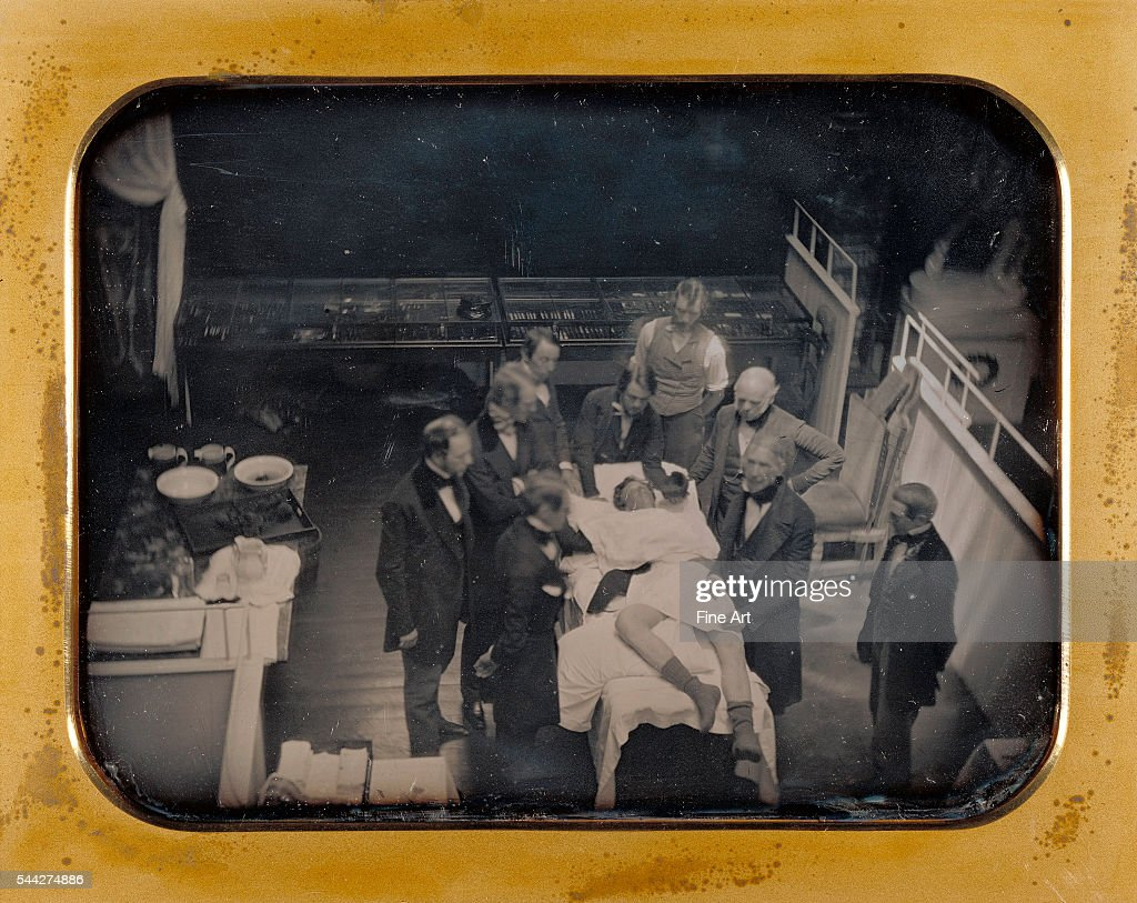 First Use of Ether for Anesthesia late spring 1847 halfplate daguerreotype 146 x 20 cm