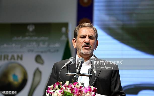 First VicePresident of Iran Eshaq Jahangiri delivers a speech during the opening ceremony of the 20th International Oil Natural Gas Refining and...