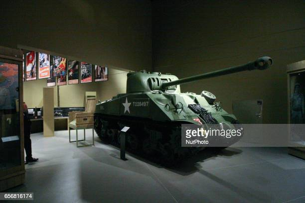 First visitors of the Second World War Museum exchibition are seen on 23 March 2017 in Gdansk Poland World War II Museum the biggest of its kind in...