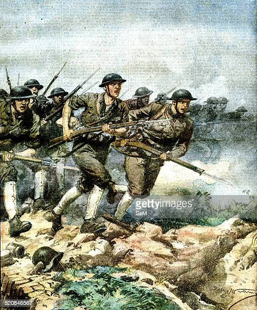 First World War 1918America at war American infantry bayonet charge Lusitania Lusitania For Americans that's what for our soldiers is the cry Savoy...