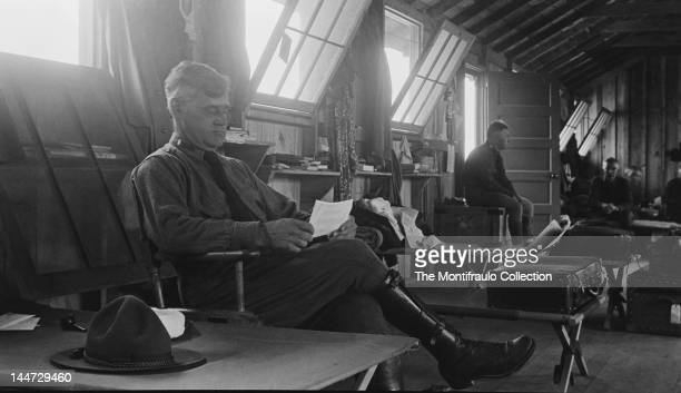First World War American Army Officers resting in their room at Latham American Army Barracks 29th July 1917