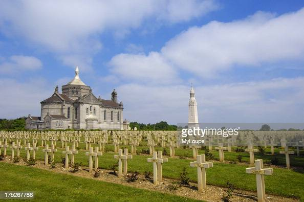 First World War Cemetery and Memorial at Notre Dame de Lorette PasdeCalais Somme valley France