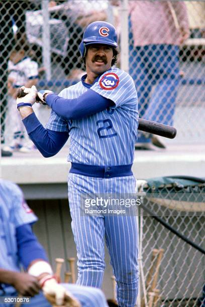 Firstbaseman Bill Buckner of the Chicago Cubs awaits his next at bat during a Spring Training game in March 1981 in Arizona