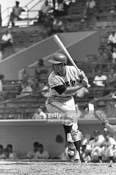 Firstbaseman Sadaharu Oh of the Tokyo Giants of the Japanese Central League at bat during a Spring Training game in March 1971 against the Baltimore...