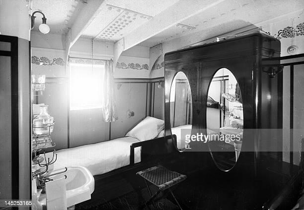 Firstclass cabin on the liner 'Cuba' SaintNazaire around 1900