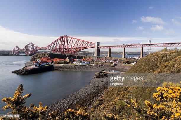 Firth of Forth Rail Bridge in Edinburgh Scotland