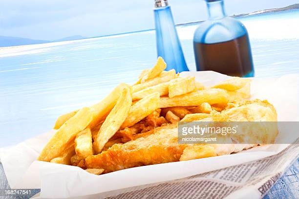 Fish and Chips am Meer