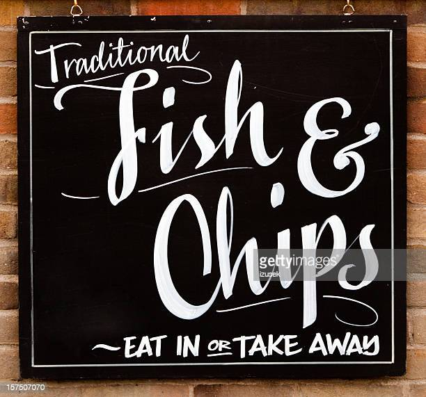 Fish And Chips Restaurant Sign
