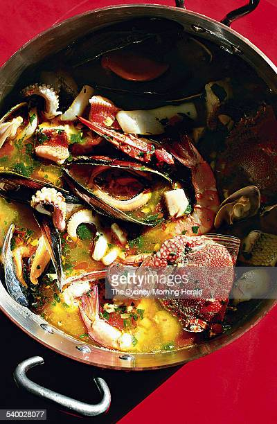 Fish and shellfish stew 13 July 2006 SMH Picture by QUENTIN JONES