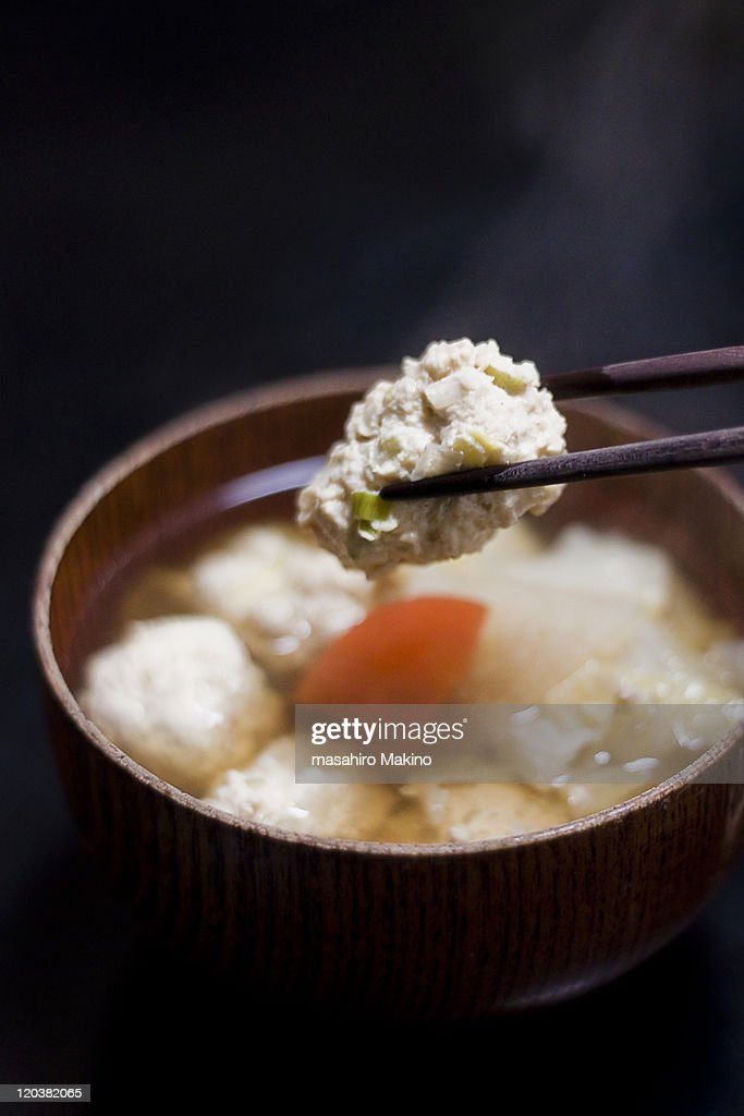 Fish ball soup : Stock Photo