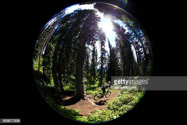 Fish Eye Mountain Biker