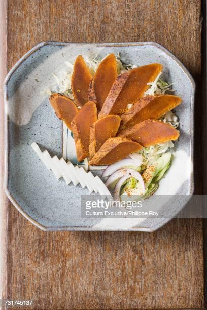 Fish fat cakes (Mullet Roe) dish