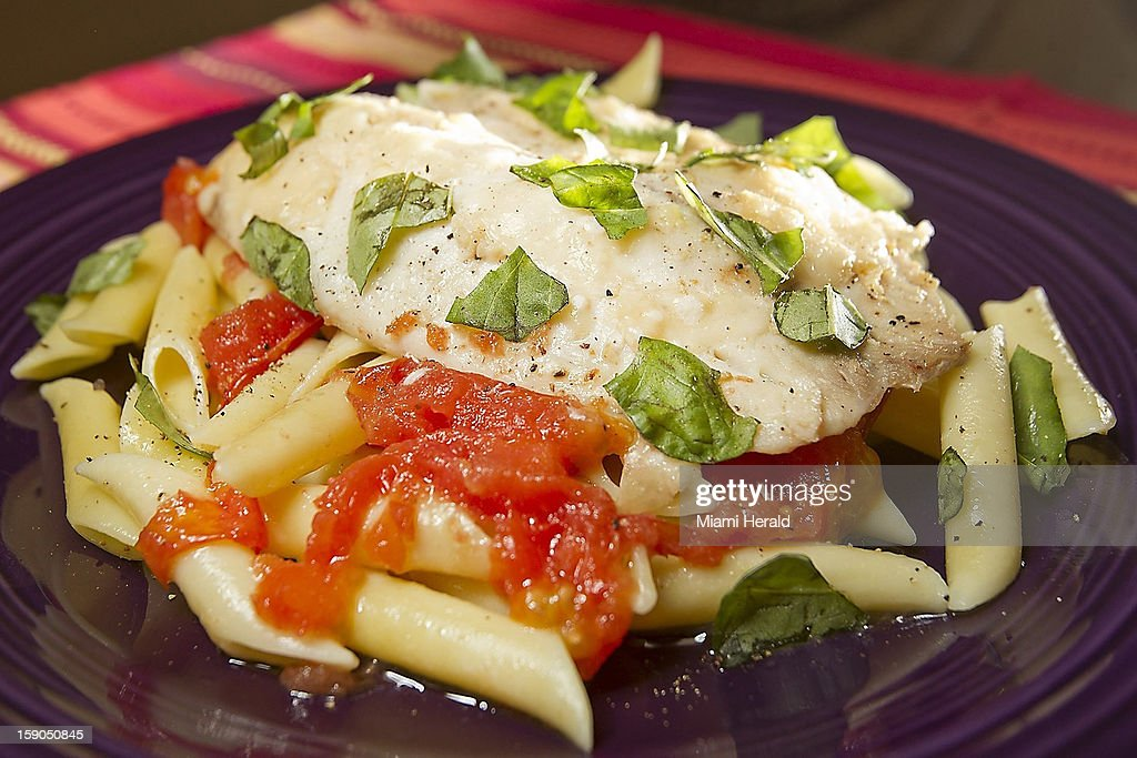 Fish fillets topped with melted Parmigiano-Reggiano cheese can be made in minutes using a microwave.