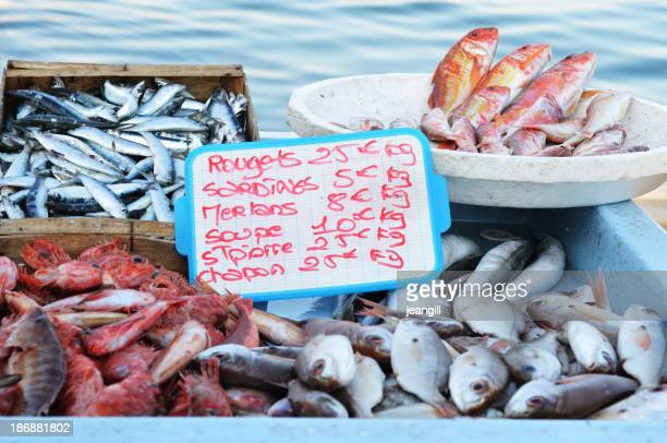 Fish market in Marseille, France