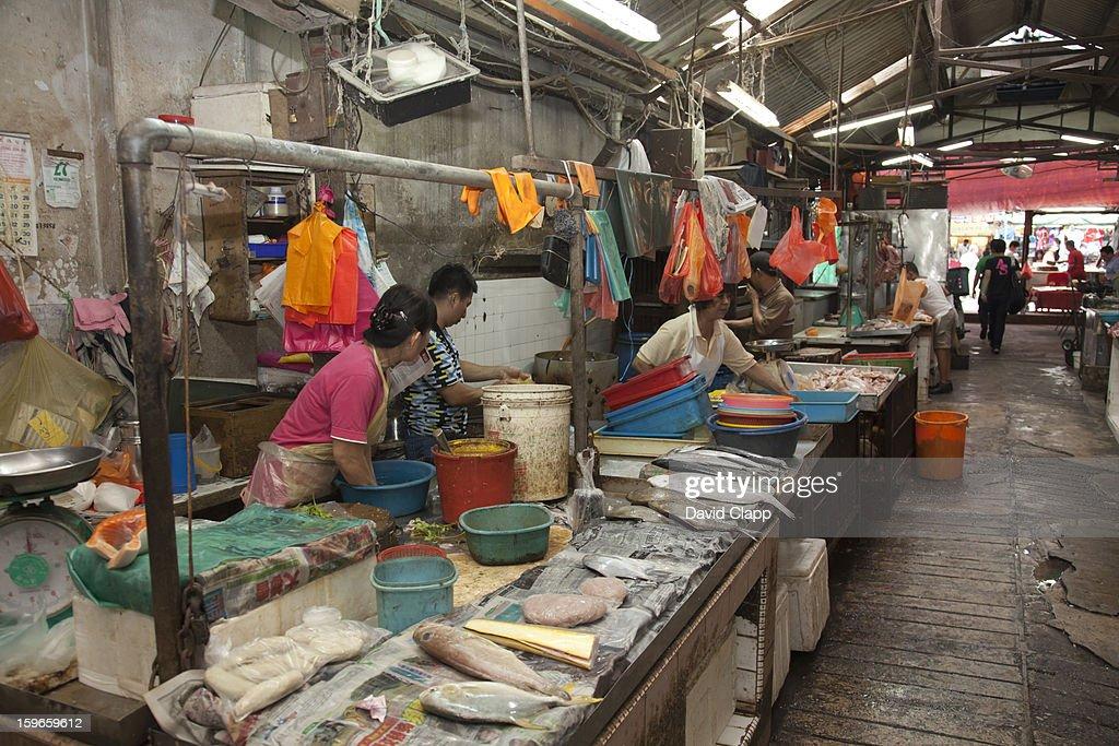 Fish market, Kuala Lumpur, Malaysia : Stock Photo