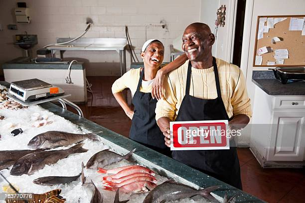 Fish market open for business