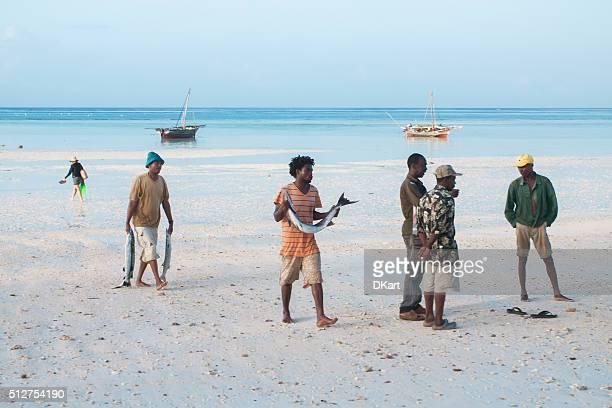 Marché aux poissons. Zanzibar