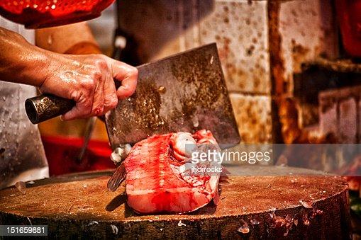 Fish Monger : Stock Photo