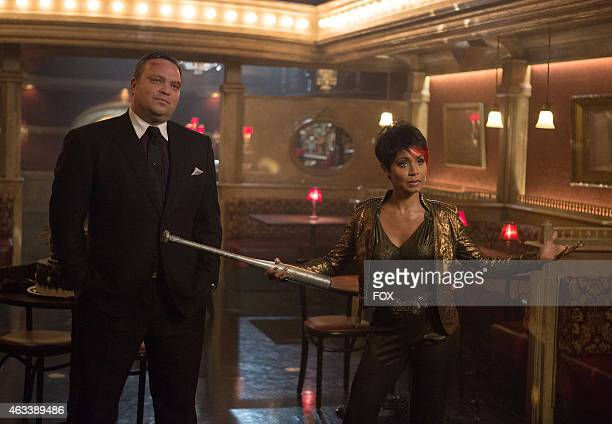 Fish Mooney and Butch Gilzean pay Oswald Cobblepot a visit in the 'Welcome Back Jim Gordon' episode of GOTHAM airing Monday Jan 26 2015 on FOX