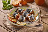 rolls stuffed sardines with breadcrumbs, raisins and pine nuts - a traditional Sicilian recipe