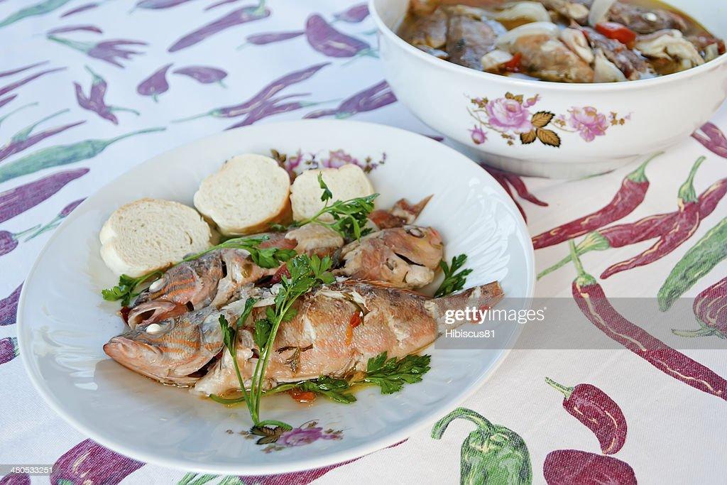 fish soup : Stock Photo