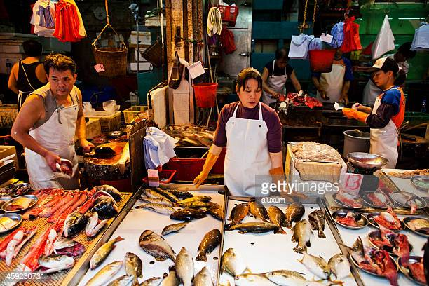 Fish street market in  Hong Kong